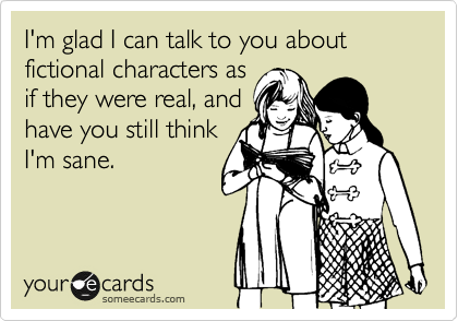 fictional characters sane someecards